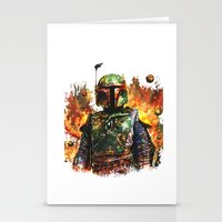 boba Stationery Cards featuring Boba Fett by ururuty