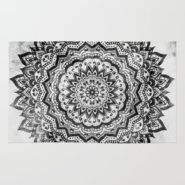 BLACK JEWEL MANDALA Rug