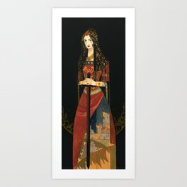 Golden Embers Art Print