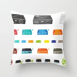 Beamer Icons Collection Set Throw Pillow
