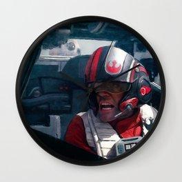 Poe Dameron In His X-Wing Wall Clock