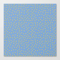 Yellow Pit on Blue /// www.pencilmeinstationery.com Canvas Print