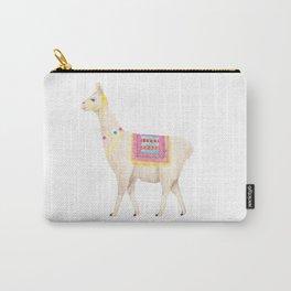 Cute white llama Carry-All Pouch