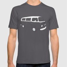 VW T2 Microbus Mens Fitted Tee Asphalt X-LARGE