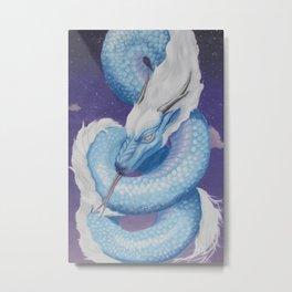 Eastern blue dragon Metal Print