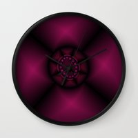 ruby Wall Clocks featuring Ruby by Christy Leigh