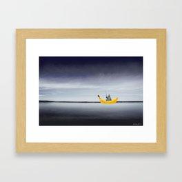 Lonely Banana Framed Art Print