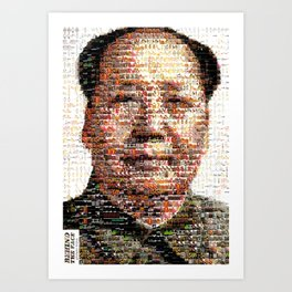 BEHIND THE FACE Mao   China Capitalism Art Print