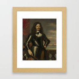 Johan van Beaumont. Colonel in the Holland guards and commander of Den Briel, Jan Mijtens, 1661 Framed Art Print