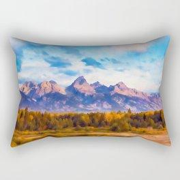 Wyoming, Grand Teton National Park Rectangular Pillow