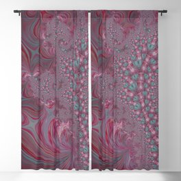 Raspberry Swirl - Pink Fractal - Abstract Art by Fluid Nature Blackout Curtain