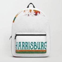harrisburg Illinois Retro Vintage Custom Funny Backpack