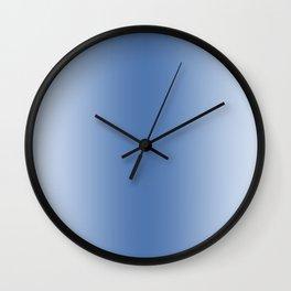 Pastel Blue to Blue Vertical Bilinear Gradient Wall Clock