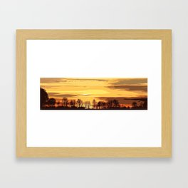 sunset lanscape Framed Art Print