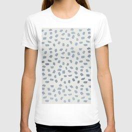 Simply Ink Splotch Indigo Blue on Lunar Gray T-shirt