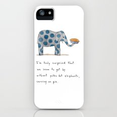 polka dot elephants serving us pie Slim Case iPhone (5, 5s)