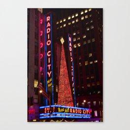Christmas at Radio City Canvas Print