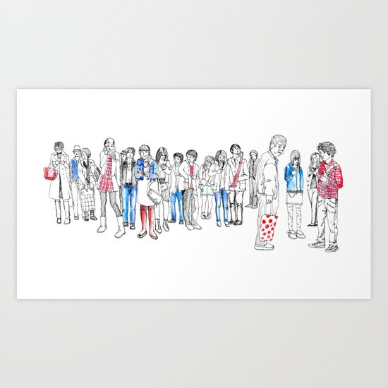 In Moments of Waiting Art Print