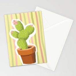 Yellow Cactus Stationery Cards