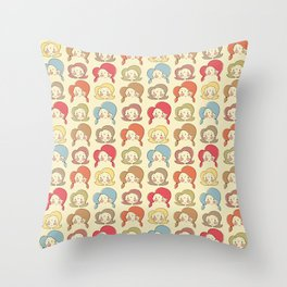 Girls, Girls, Girls Throw Pillow