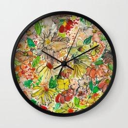 Wildflower Wall Clock