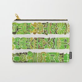 Tiki Totems – Green Carry-All Pouch