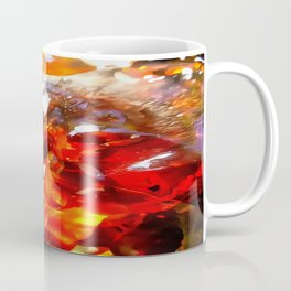 Apricot Resin Abstract Coffee Mug