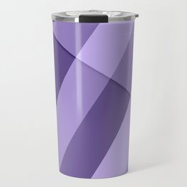 Ultra violet purple modern geometric lines Travel Mug