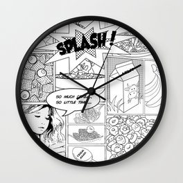 i luv cereal Wall Clock