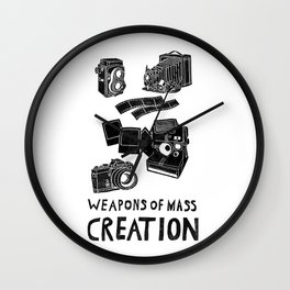 Weapons Of Mass Creation - Photography (clean) Wall Clock