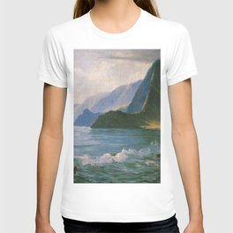 Under the Cliffs of Molokai, Hawaiian landscape painting by D. Howard Hitchcock T-shirt