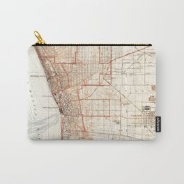 Vintage Map of Redondo Beach & Torrance CA (1934) Carry-All Pouch