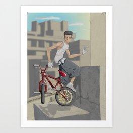 High Stuntin' Art Print