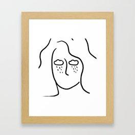 rainy soul Framed Art Print