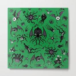 Cosmic Horror Critters Metal Print