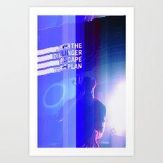 Dillinger Escape Plan glitches Berlin Art Print