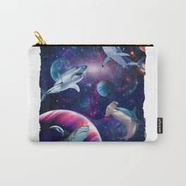 Sand Hammer Head Sharks Universe Space Galaxy Fish water T-Shirt Carry-All Pouch