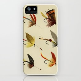 Lake Flies from Favorite Flies and Their Histories by Mary Orvis Marbury. 1 iPhone Case