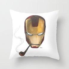 Mr. Iron Throw Pillow