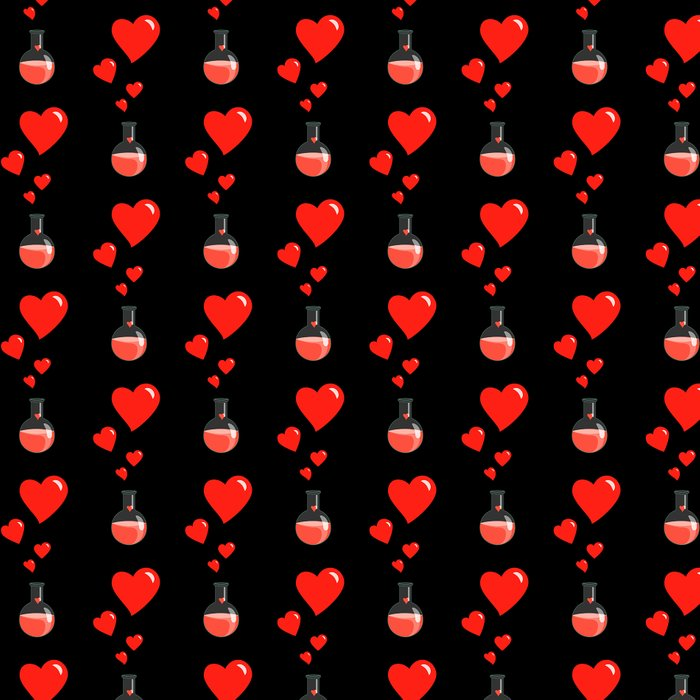 Love Chemistry Flask of Hearts Pattern Leggings