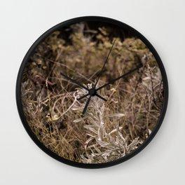 Fall Textures 2  Wall Clock
