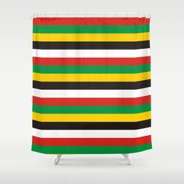 Dominica guyana flag stripes Shower Curtain