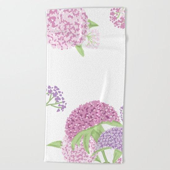 Beautiful hydrangeas Beach Towel