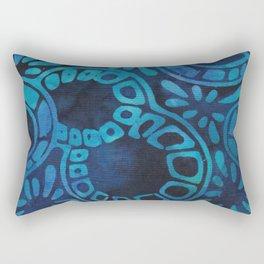 Blue Batik 09 Rectangular Pillow