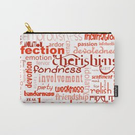 What Is Love Synonyms For Love Word Cloud Carry-All Pouch