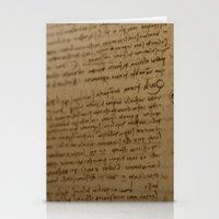 da vinci Stationery Cards featuring Da Vinci I by Megan Burgess