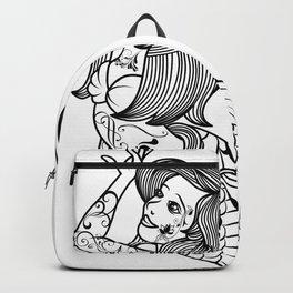 VINTAGE MERMAID ART Mermaid Gift For Women Backpack