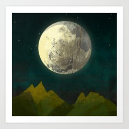 Big Moon Art Print
