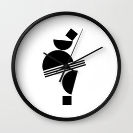 Abstract Figure 01 Wall Clock