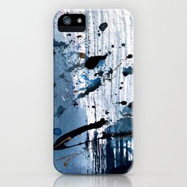 Breathe [6]: colorful abstract in black, blue, purple, gold and white iPhone Case